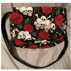 Handbags - Skulls & Roses Purse Shoulder Bag